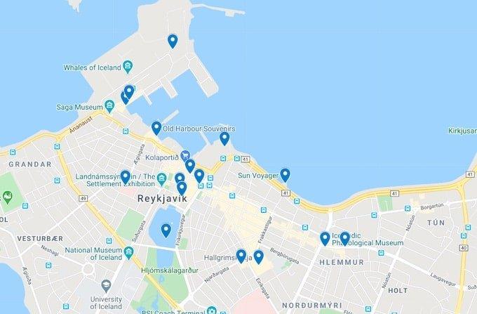 key attractions reykjavik