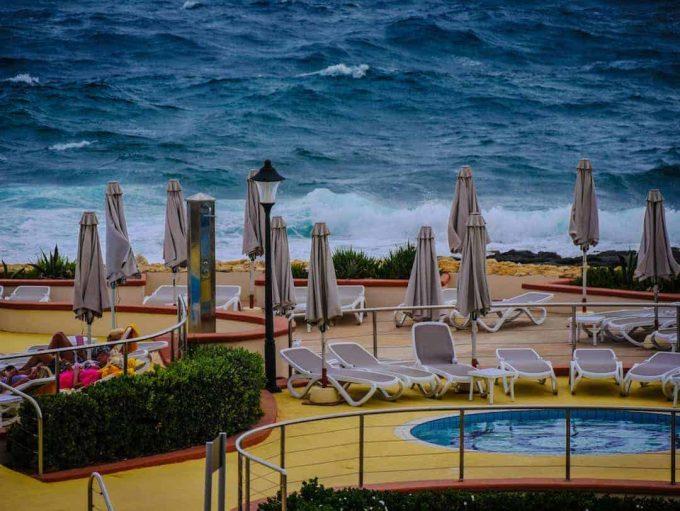 ocean front pool HiltonMalta