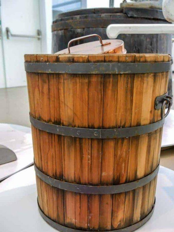 old gelato barrel