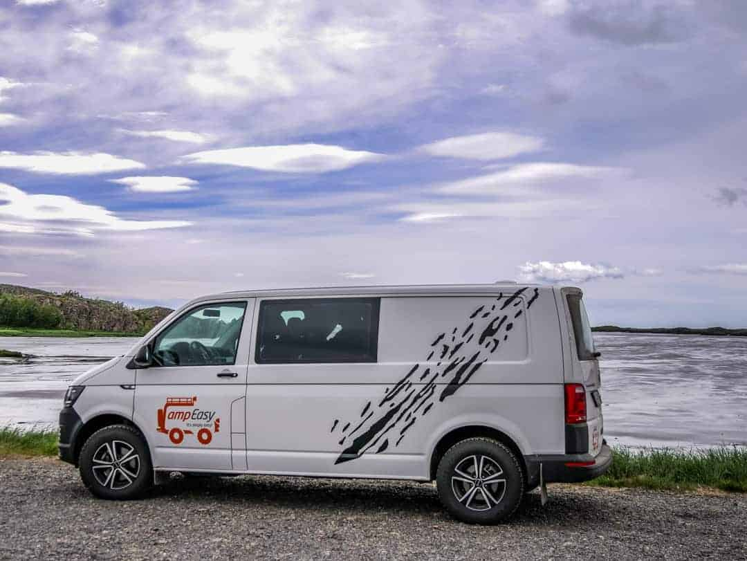 parking overnight camper in iceland - campervan hire iceland
