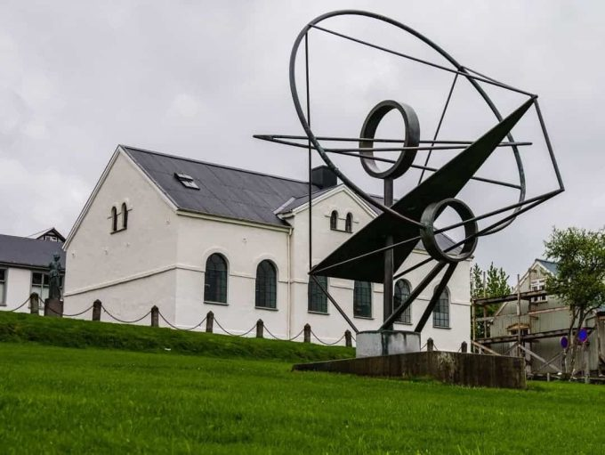 sculpture in front of Reykjavik Junior College