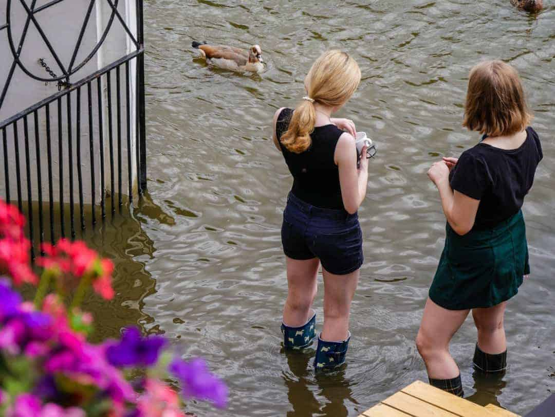 staff in gumboots at the Whitecross