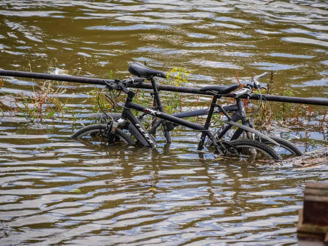 submerged bikes
