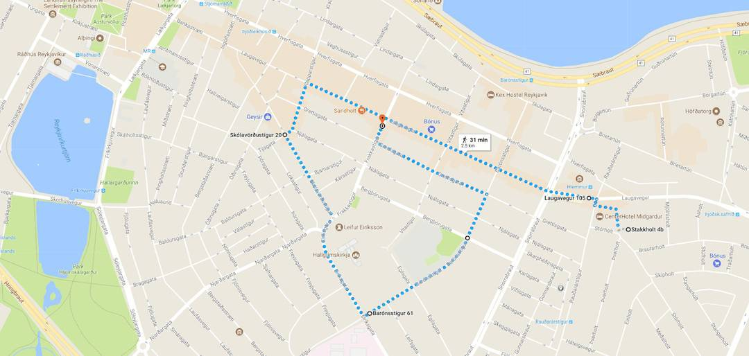 walking the backstreets of reykjavik