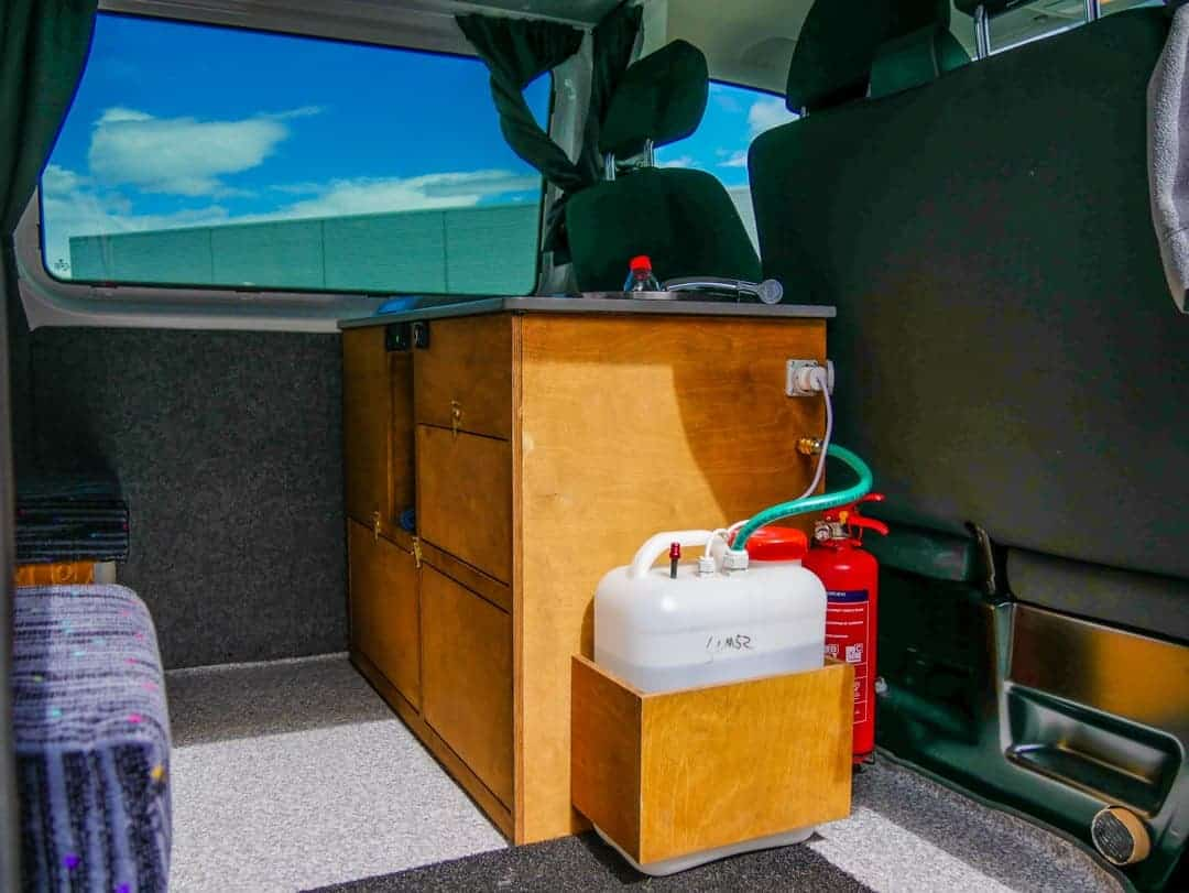 watertank camper Iceland