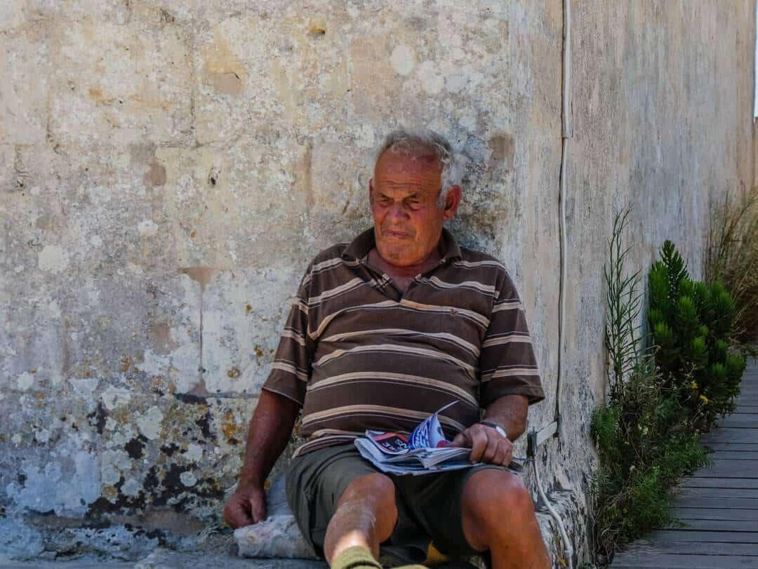 man in Malta near Dingli cliffs