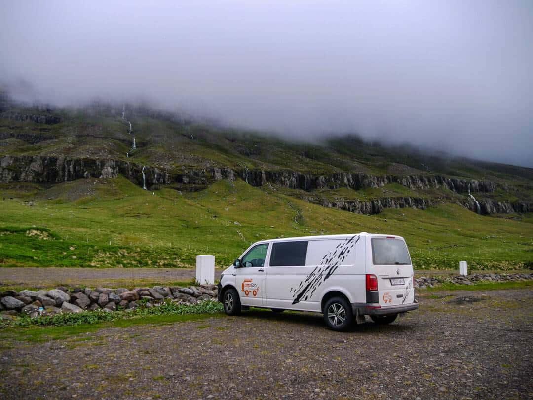 overnight campervan stopovers in Iceland Seyðisfjörður