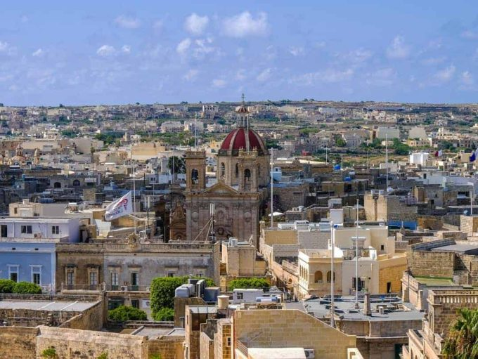 view of Gozo from cathedral