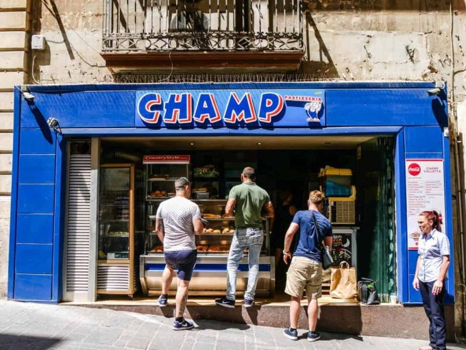 Champ pastizzi Valletta Malta