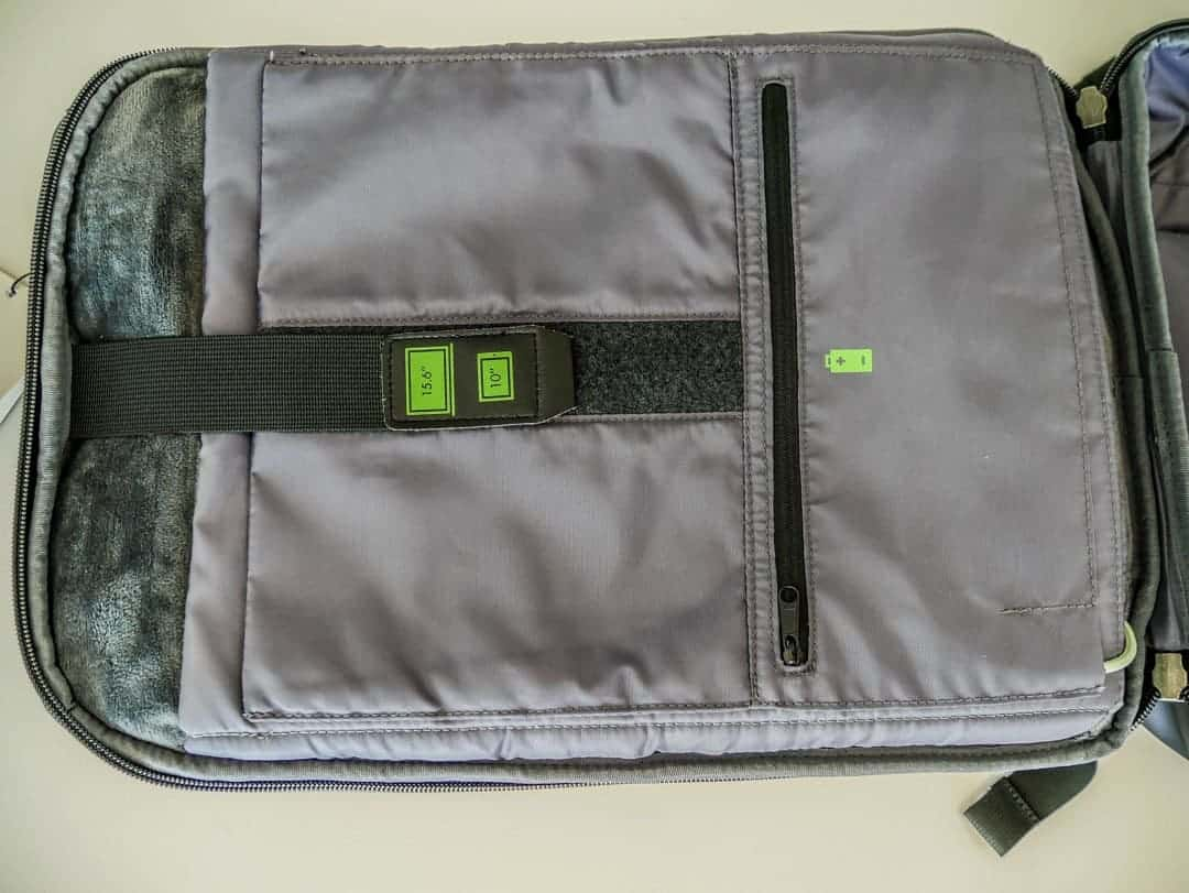 Clickpack Pro security backpack inside front