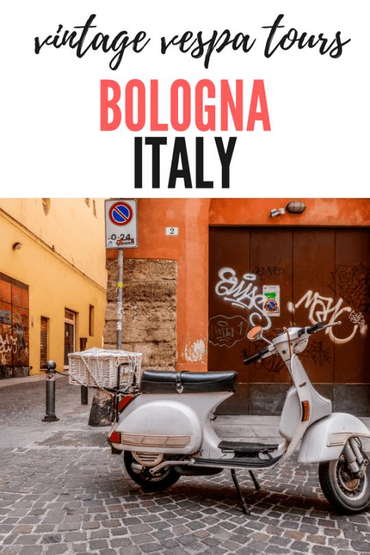 VINTAGE VESPA TOURS BOLOGNA ITALY