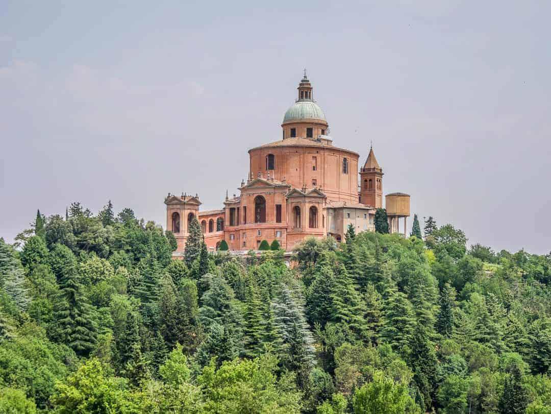 Vintage Vespa Food and Wine Tour Bologna Italy Sanctuary of San Luca