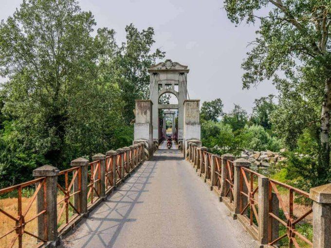Vintage Vespa Food and Wine Tour Bologna Italy lead up to Ponte di Vizzano