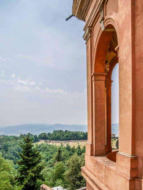 Vintage Vespa Food and Wine Tour Bologna Italy view from San Luca