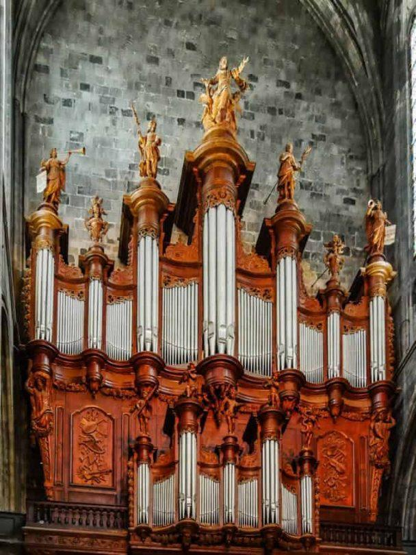 baroque organ narbonne cathedral