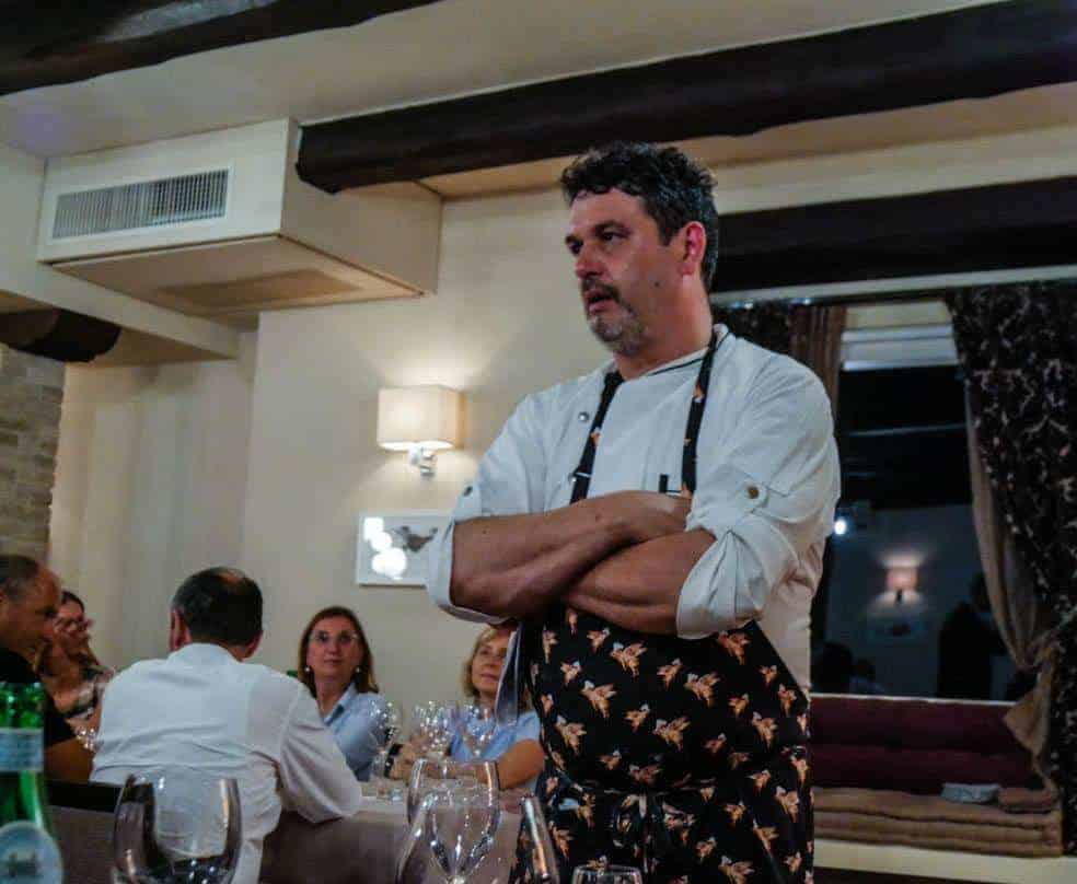Chef Luigi talking to our table - San Marino Restaurant