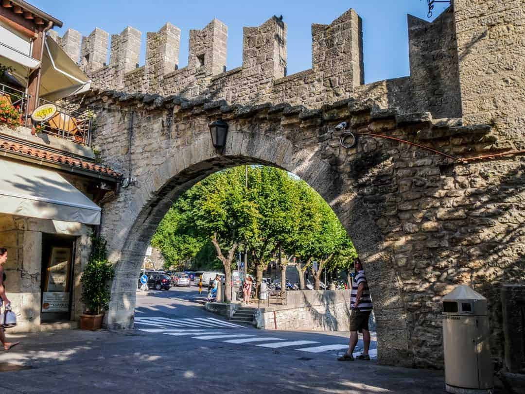 old walls of the city of San Marino
