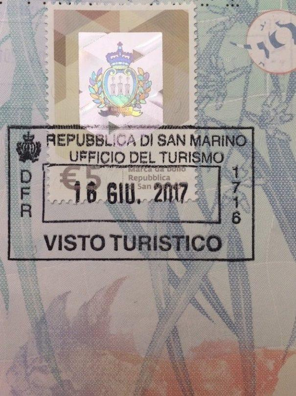 passport stamp san marino