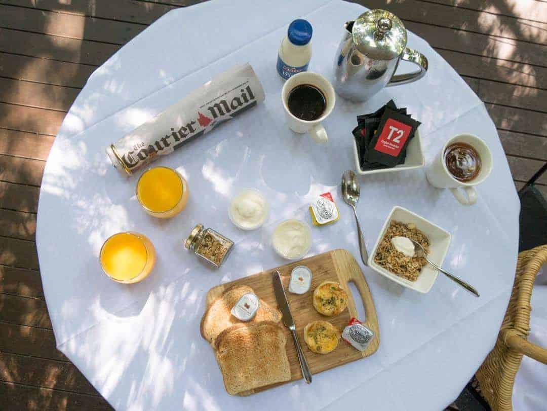 Pethers Rainforest Retreat breakfast basket
