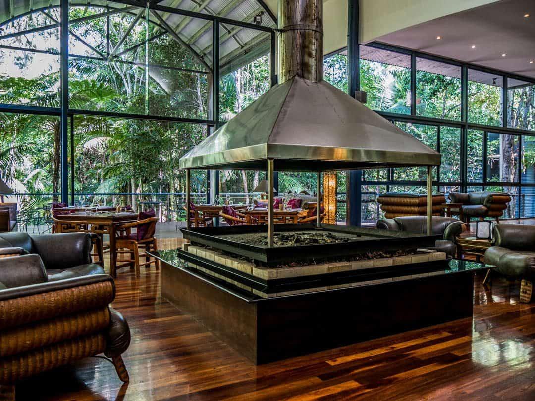 Pethers Rainforest Retreat fireplace
