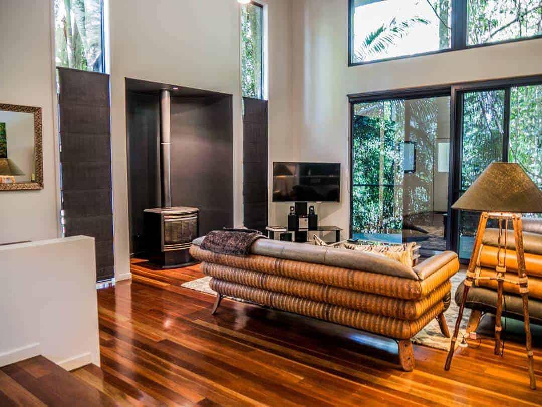 Pethers Rainforest Retreat luxury accommodation lounge