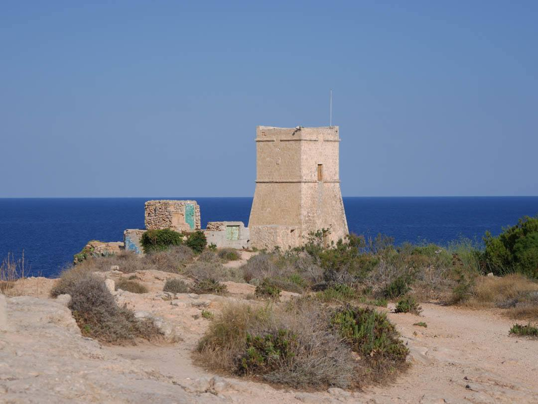 One of the guard towers built by the Knights still overlooking the coastline