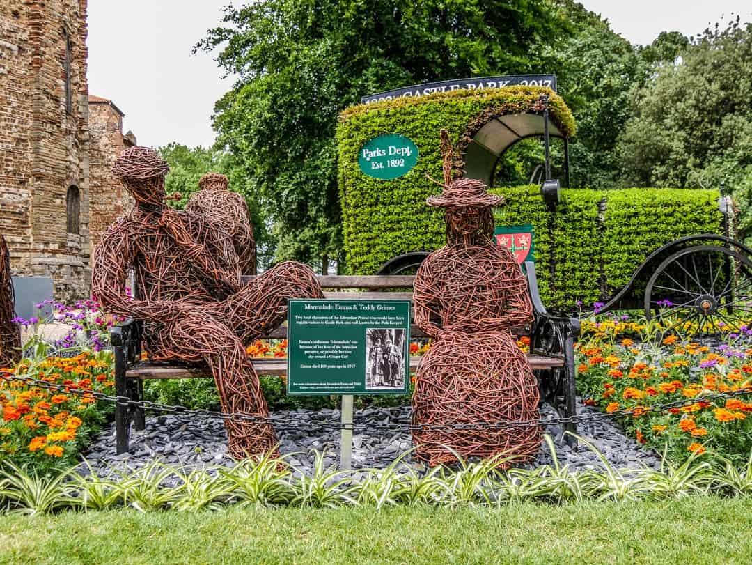 Colchester UK colchester castle garden