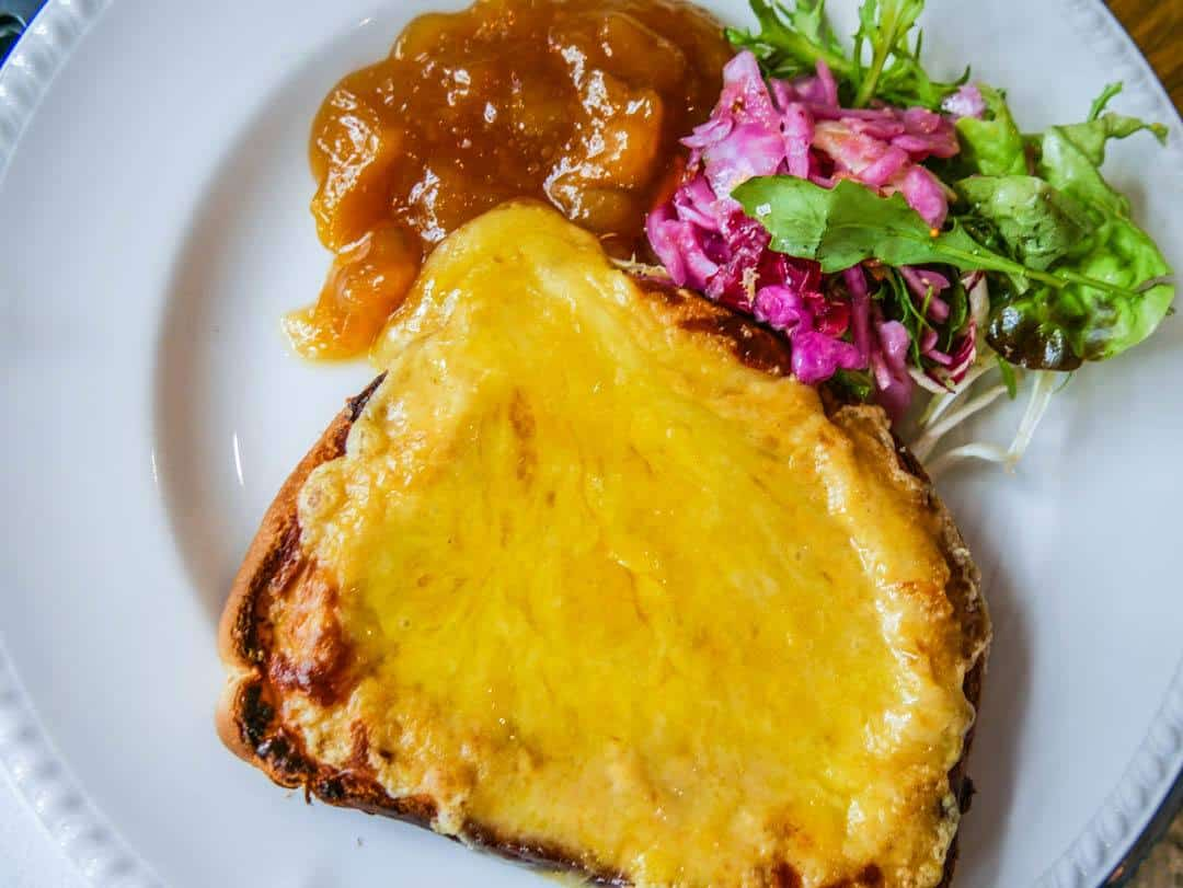 Colchester UK welsh rarebit lunch The George