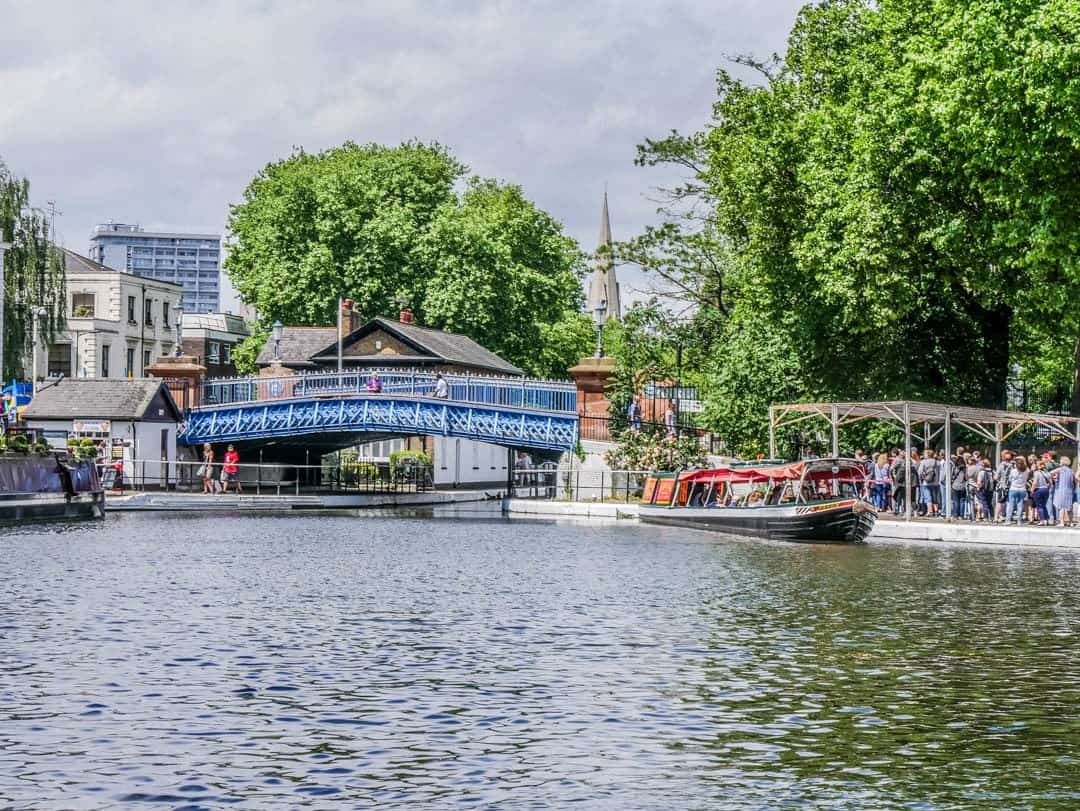 little venice with bridge in background