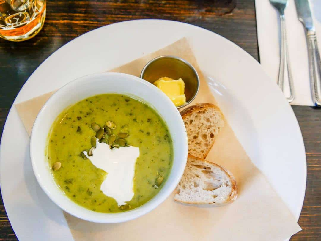 pea and watercress soup the bridge pub little venice