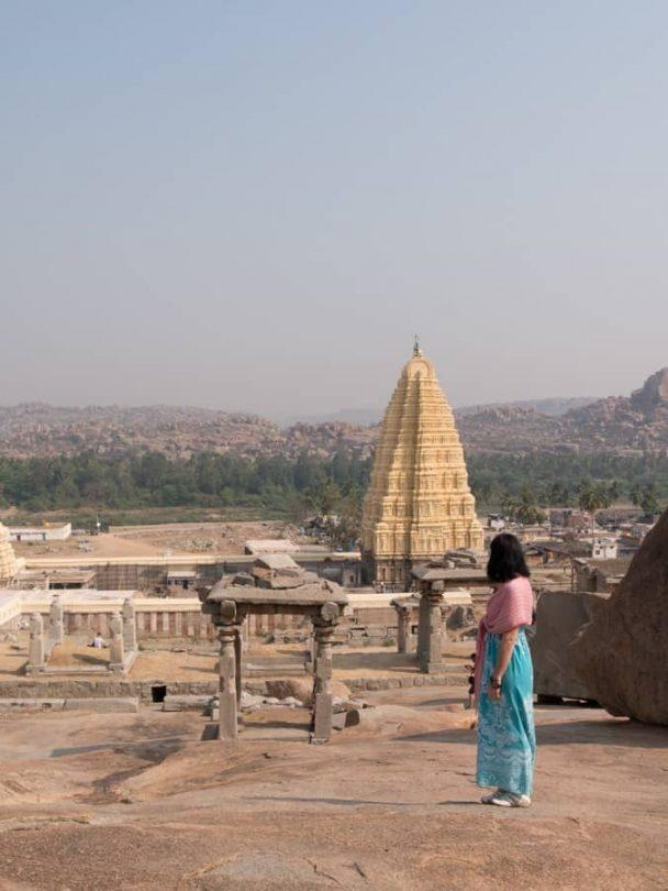 Visiting the Hampi ruins
