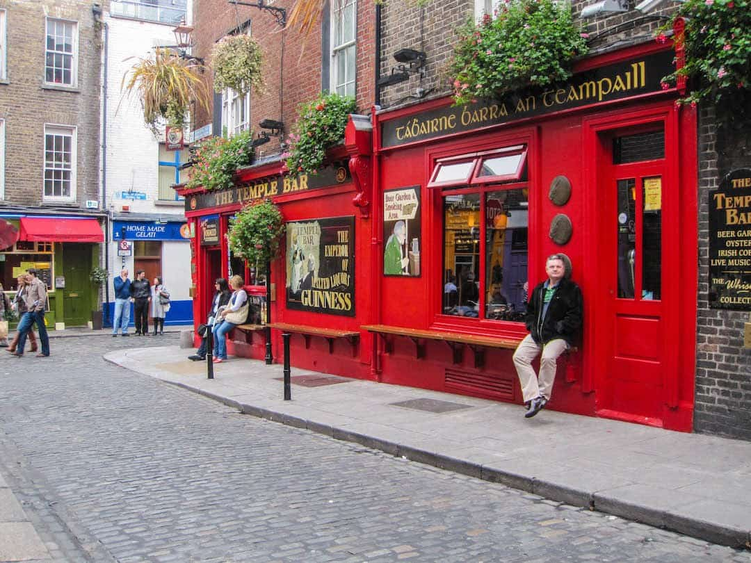 The famous Temple Bar in Dublin