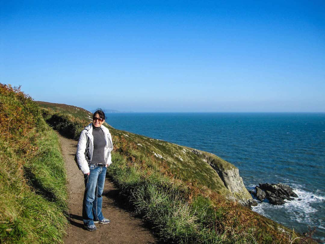 walking the cliffs near Howth Ireland