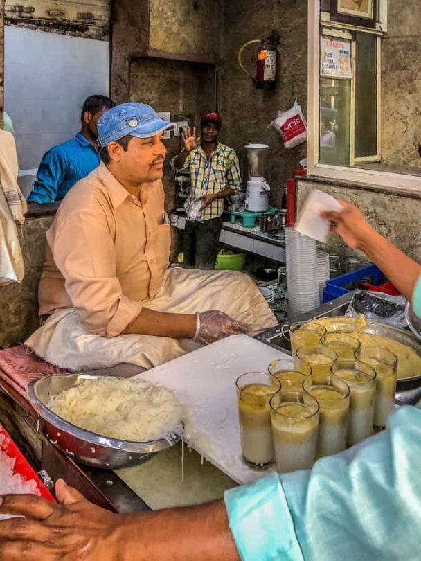 Falooda shop on the old Delhi street food tour