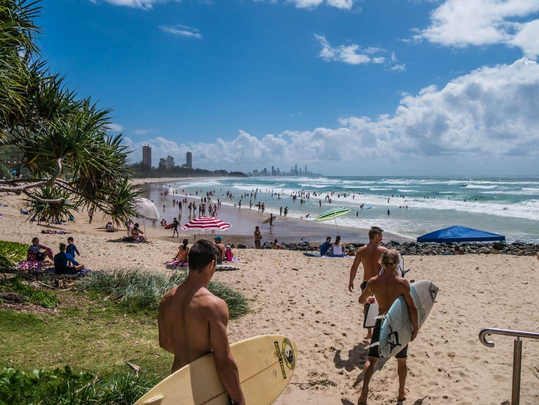 Burleigh heads looking towards surfers paradise
