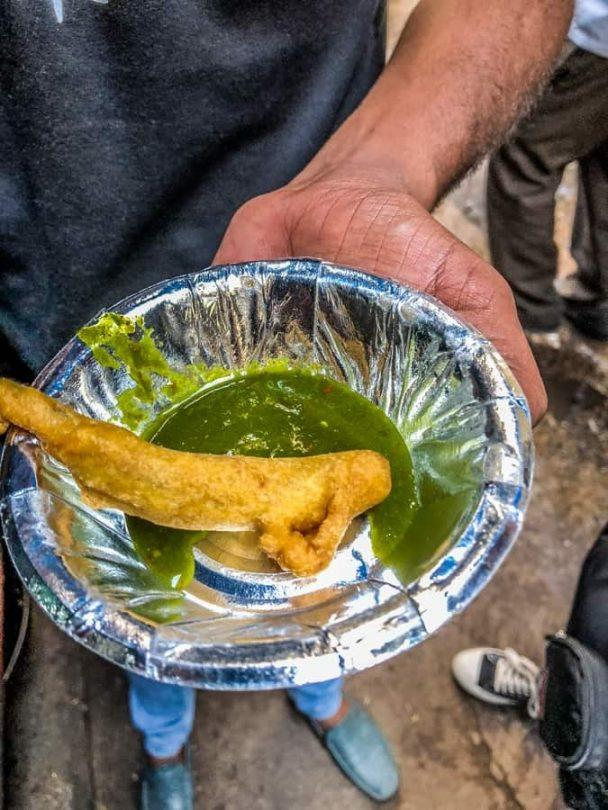 deep fried green chilli