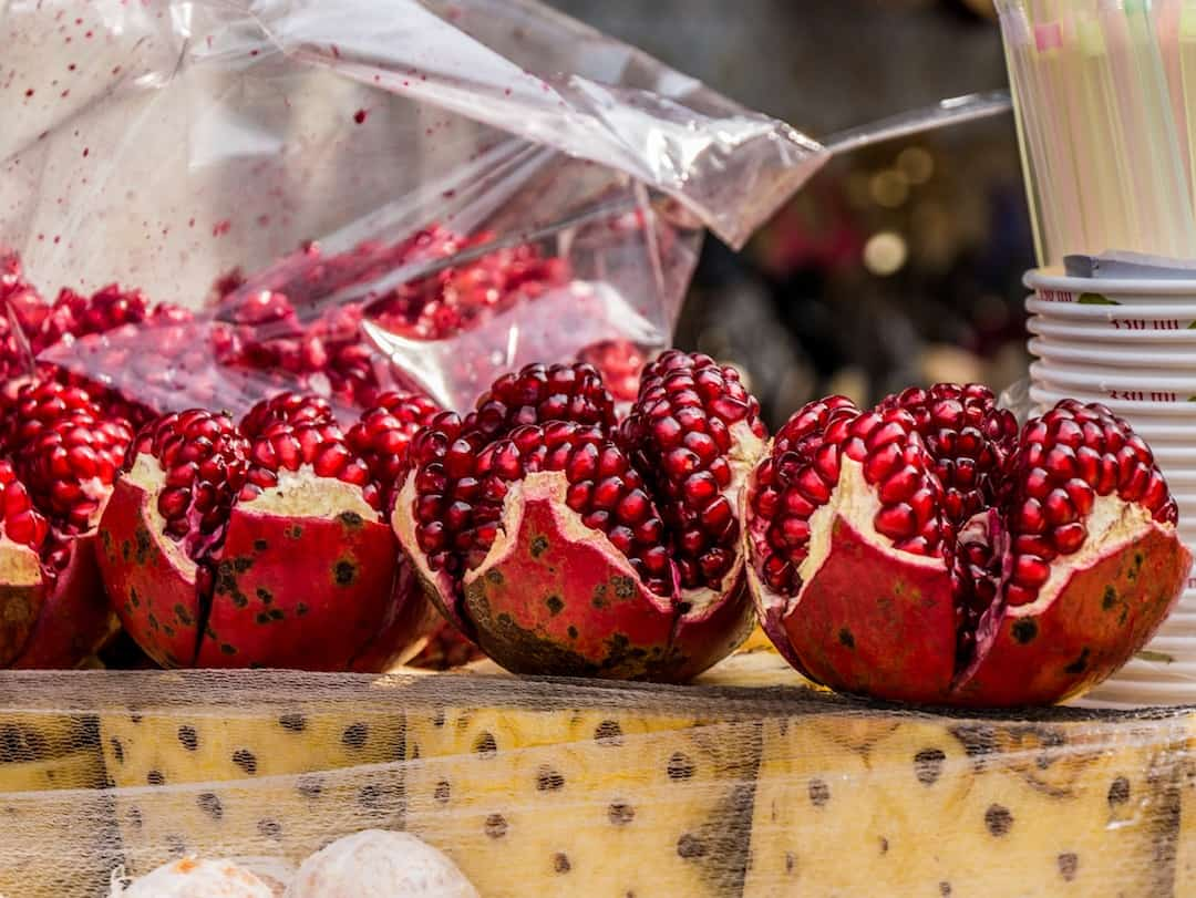 pomegranate and pineapple