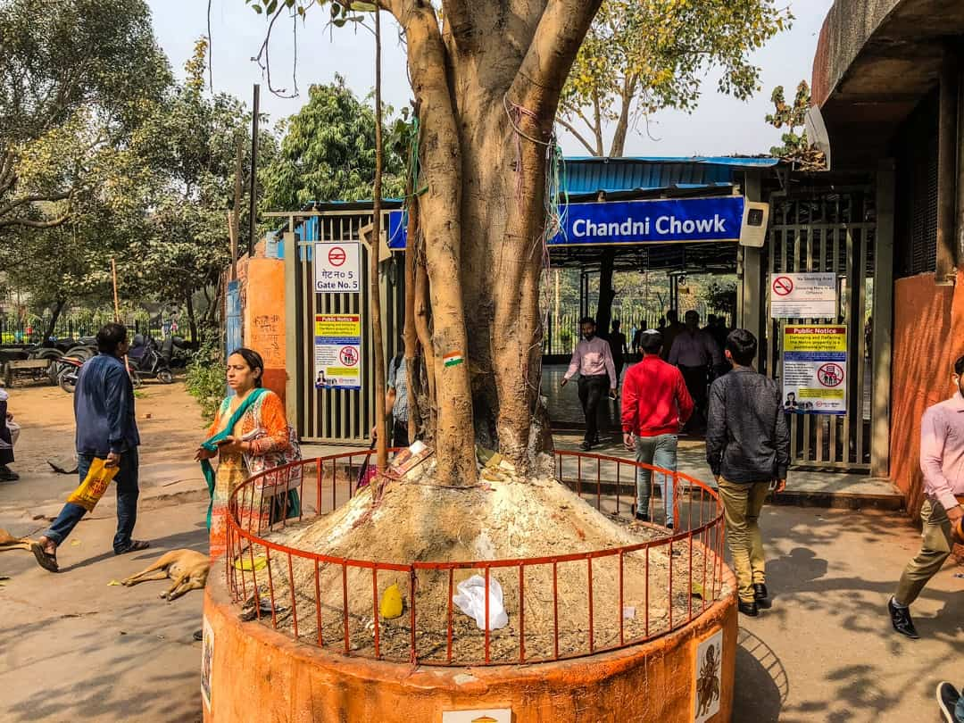 meeting place at Chandri Chowk for food tour in Delhi
