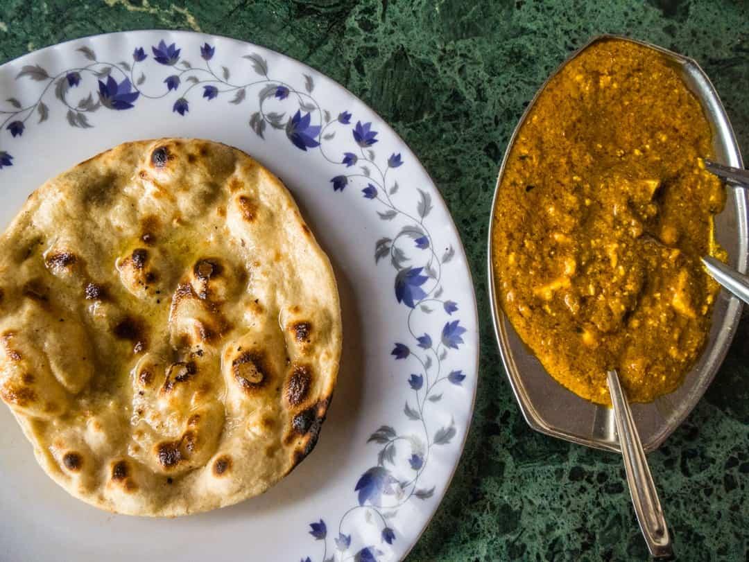 paneer masala and roti