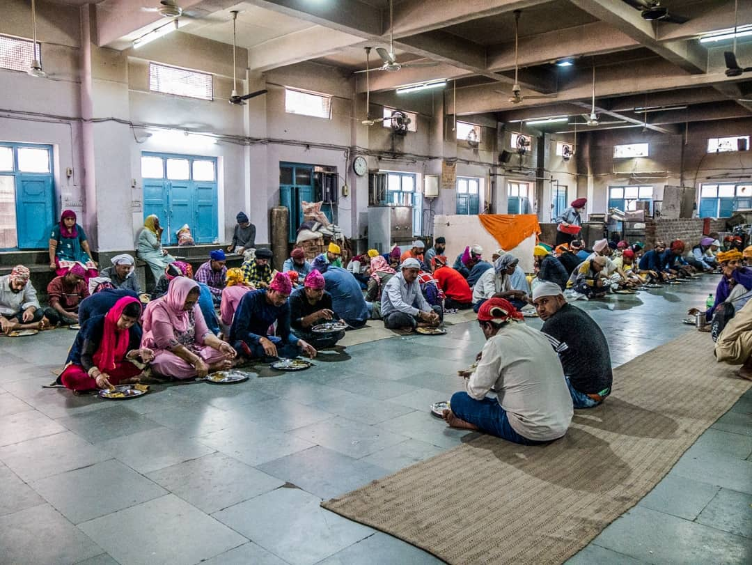 people eating in the Sikh Kitchen