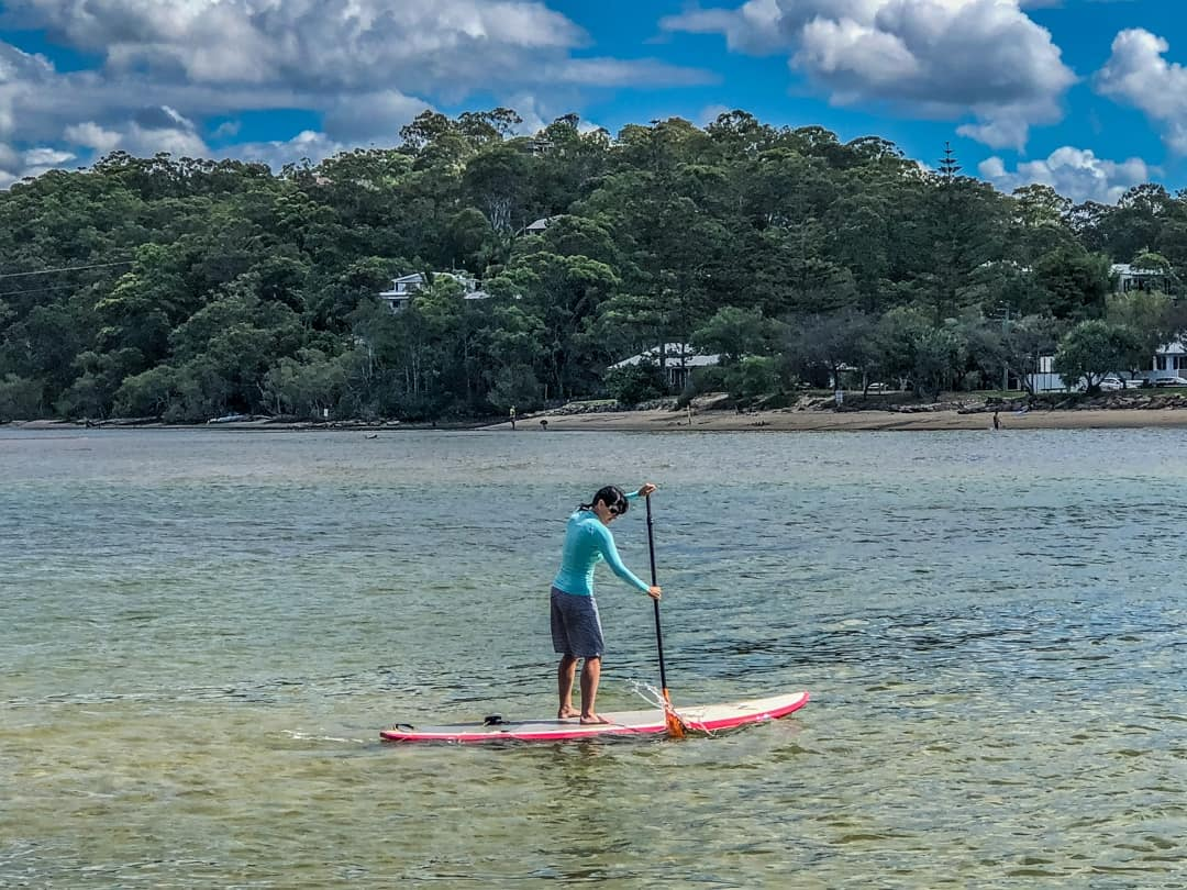 stand up paddle boarding at tallebudgera creek