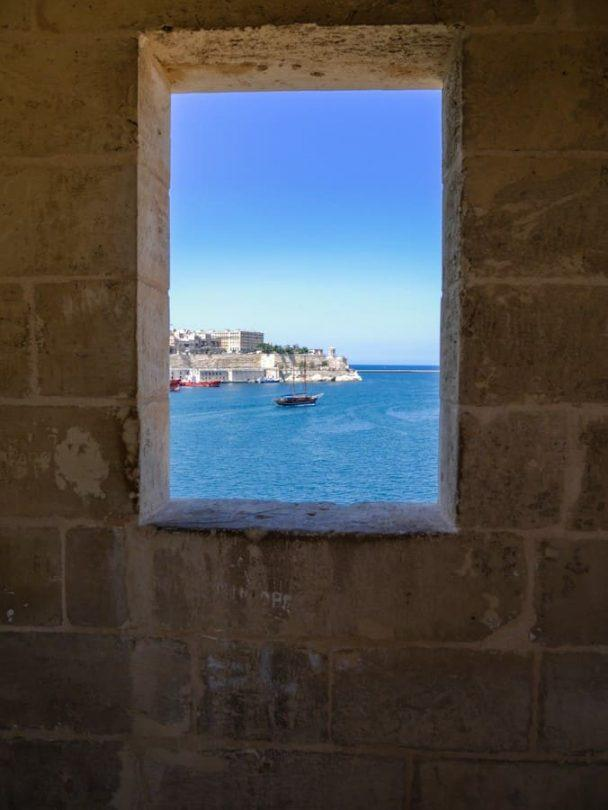 the view across to valetta