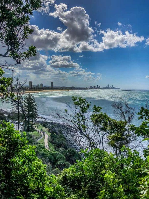 the view back to surfers paradise