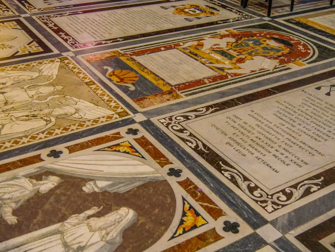tiles on the floors