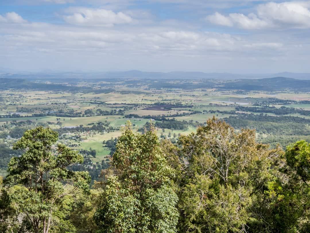 view over the scenic rim