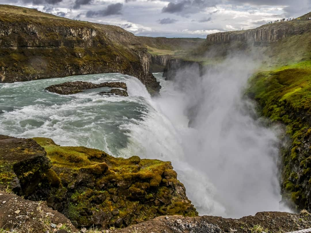 Gulfoss Waterfall Golden Triangle Iceland