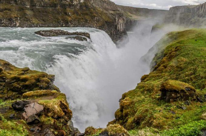 Gullfoss waterfall Iceland canyon