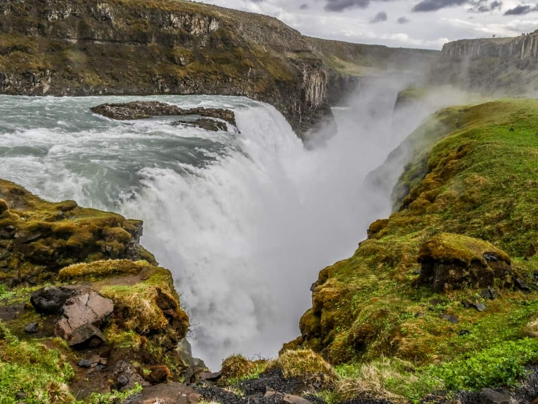 Gullfoss waterfall in Iceland by Kerri from Beer and Croissants