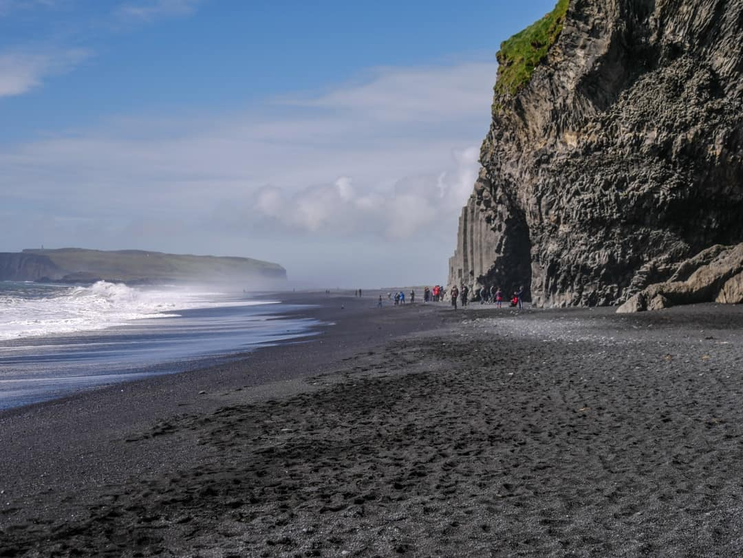 black sand beach southern iceland