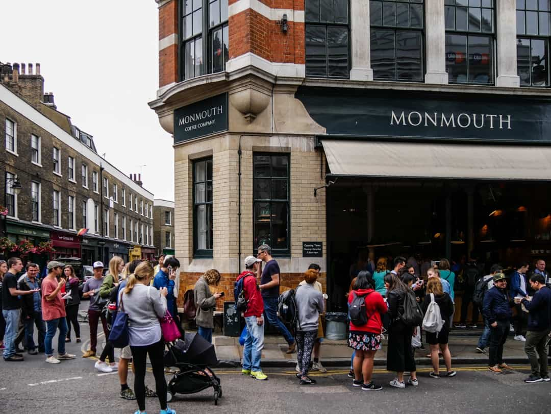 monmouth coffee - Borough Market opening hours